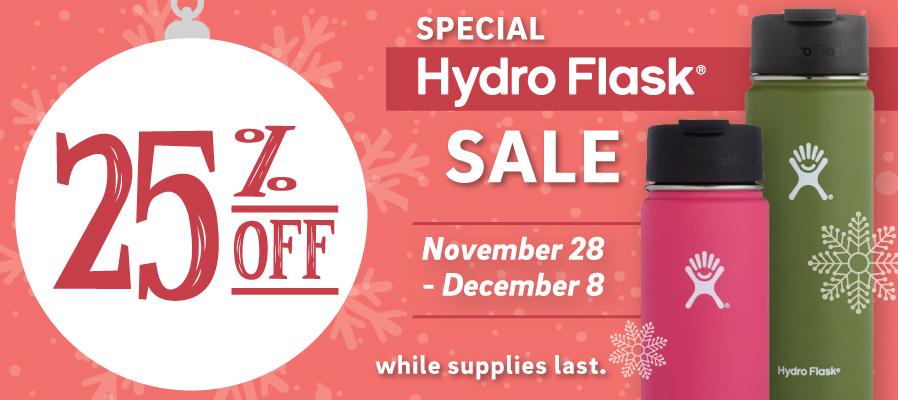 25% off Hydro Flasks