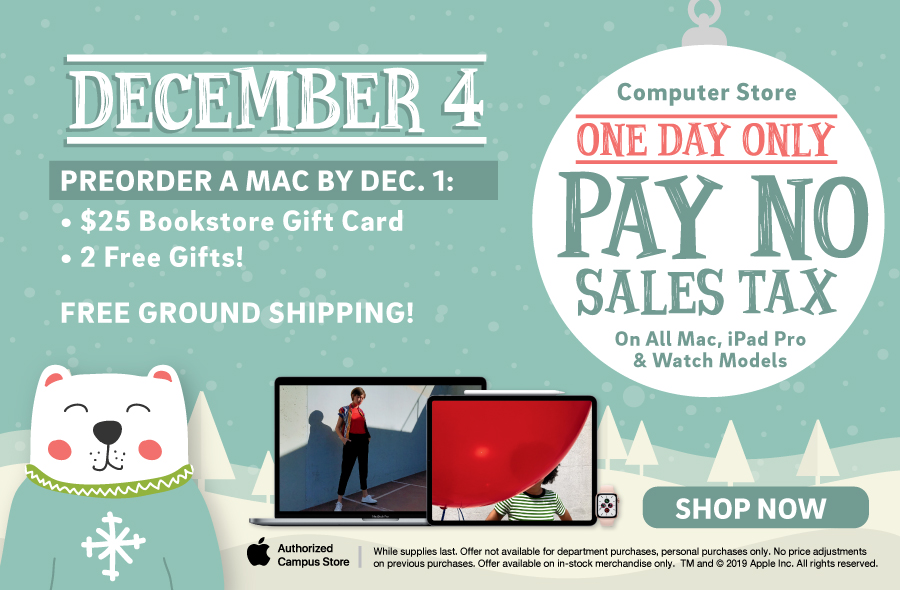 Pay No Sales Tax on most Apple Products December 4th