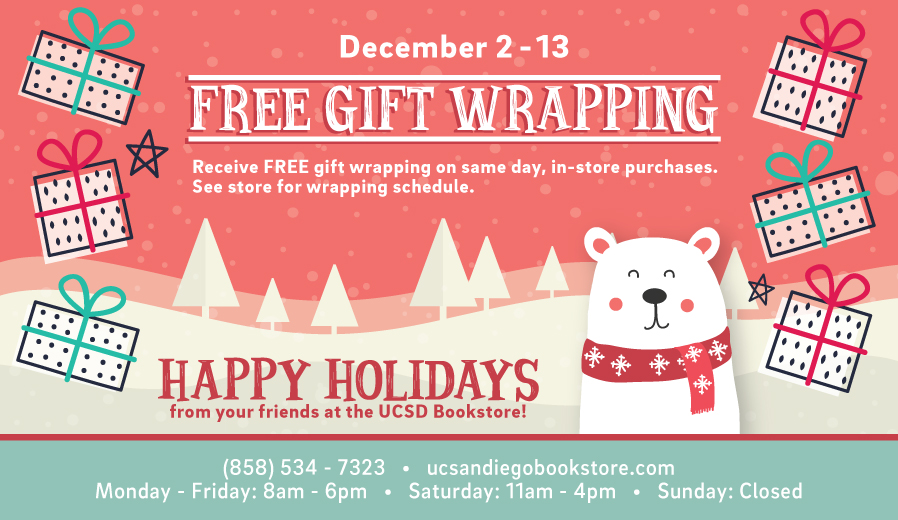 Free gift wrapping in-store from December 2nd through the 13th