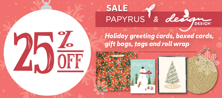 25% off Papyrus and Design brand products
